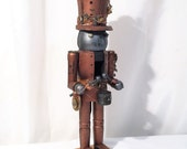 Large Steampunk Drummer Robot Nutcracker
