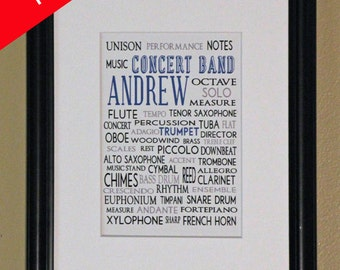 Personalized Print-  Concert Band