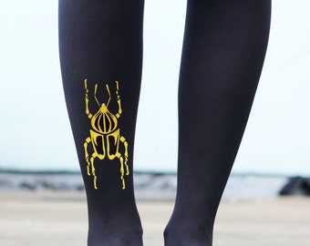 Scarab Beetle Tattoo Tights