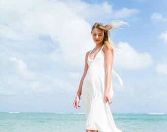 Fern High-Low Maxi Dress / More Colors! / Hand Beaded / Resort / Cutout / Backless / Beach Wedding Dress / Bridesmaid Dress / Convertible