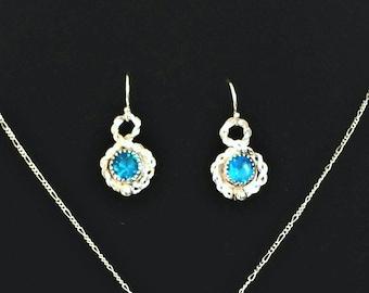 Vintage Brilliance Earrings - Caribbean Blue Cubic Zirconia