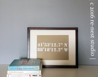 wedding location coordinates frameable - perfect for wedding/shower/anniversaries!