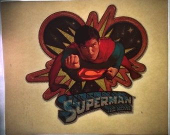 """Vintage 1978 """"Superman The Movie"""" Christopher Reeves Iron On Transfer"""
