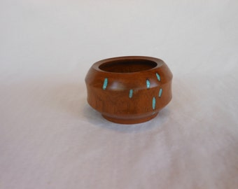 Eye Catching #Mesquite Bowl With Turquoise   #121