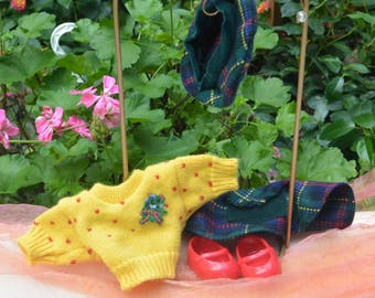 SALE! Muffy Vanderbear Hare - Highland Fling, Scottish Outfit, 6 Pieces - Vintage - Fabulous!