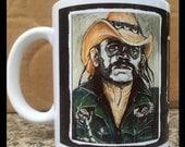 Lemmy Kilmister Day of the Dead 11 oz Coffee Mug
