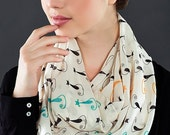 CAT Print Infinity scarf Circle scarf Loop scarf scarves summer spring fall winter fashion gift ideas for her girlfriend wife valentine's