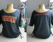 Linkin Park Refashioned Black Sleeve Cut-Out + Accent Side-Tie T-Shirt