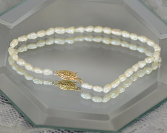 Keshi Pearl Bracelet with 14kt Clasp