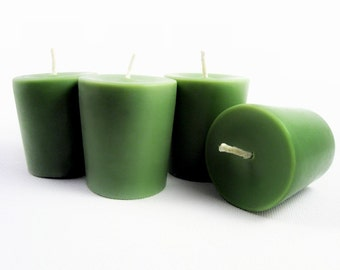 Perfumed Soy Votive Candles- Jasmine Green Tea. All natural Essential Oil Scented Candles. Pure Soy. Set of 4.