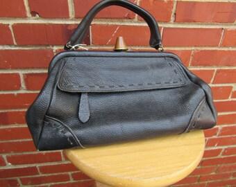 Victorian Style Doctors Bag, Gladstone Bag Purse, Instrument Bag