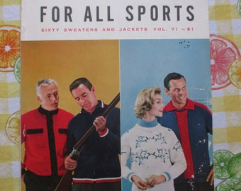 1960s Knitting Book - The Bernat Book for All Sports