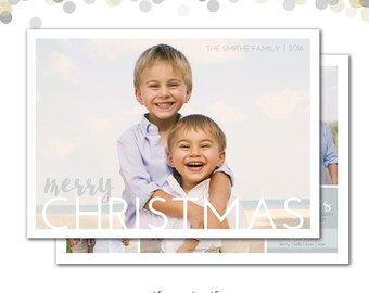 Christmas Card, Warm Wishes, Beach, Merry Christmas, Personalized Photo Holiday Card, Christmas Card, Holiday Card, Printable or Printed