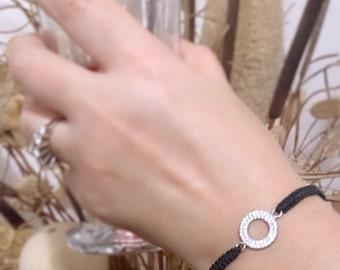 925silver love bracelet gift woman silver heart bracelet snowflake bracelet circle bracelet double heart bracelet gift for girlfriend