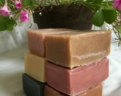 SAVE 20% - Choose 6 vegetarian/vegan soap, cold-process, eco gift, man gift, inexpensive gift, herbal soap, unisex, helps dry skin, sudsy