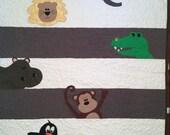 Baby Zoo Animal Quilt