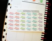 Clean the House stickers, cleaning stickers, chore stickers, set of 30 planner stickers for Erin Condren Life Planner, Happy Planner!