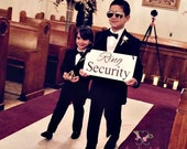 RING SECURITY Sign, Wedding Sign, Ring Bearer, Security, Custom wooden sign, Photo Prop, Wedding Signage, Handmade, Reception, Ceremony