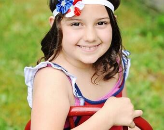 Fourth of July Headband - Independence Day Headband - Red White and Blue Headband - America Headband - Baby Headband - Adult Headband