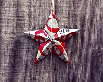 Upcycled Diet Coke Soda Can Star Ornament
