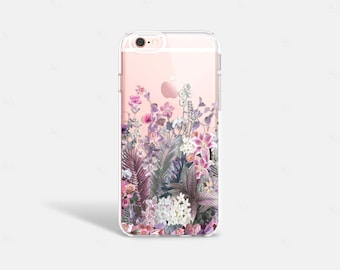 iPhone 6s Case Rubber iPhone 6s Plus Case Transparent Rubber TPU Clear iPhone Case Floral iPhone Case Floral Samsung Galaxy S6 Case