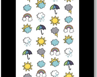 Weather Icons || Stickers for Life Planner