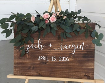 Wedding Welcome Sign, Welcome Wedding Sign, Custom Wedding Signs, Wedding Gift, Wood Wedding Signs, Personalized Wedding Gift