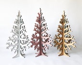 BROWN laser-cut cardboard table top christmas tree, 50cm/19,6in, home decoration for holidays