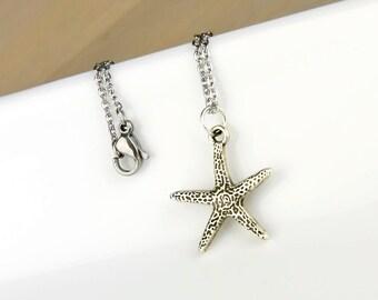 Starfish Necklace, Beach Jewelry, Beach Wedding