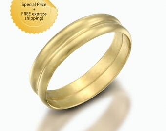unique womens wedding band, wide wedding band, wide gold ring, wide gold band ring, solid gold band, yellow gold band, wedding ring for him