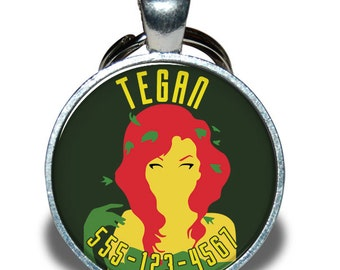 Pet ID Tag - Poison Ivy *Inspired* - Dog tag, Cat Tag, Pet Tag