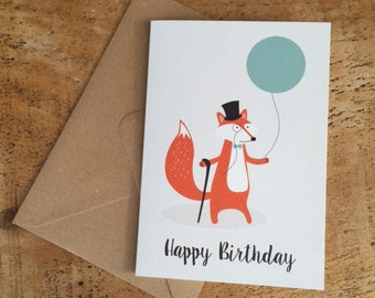 Happy Birthday Card / Foxy Birthday Card / Dapper Fox