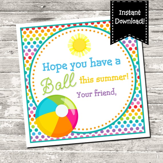 Accomplished image with regard to have a ball this summer free printable