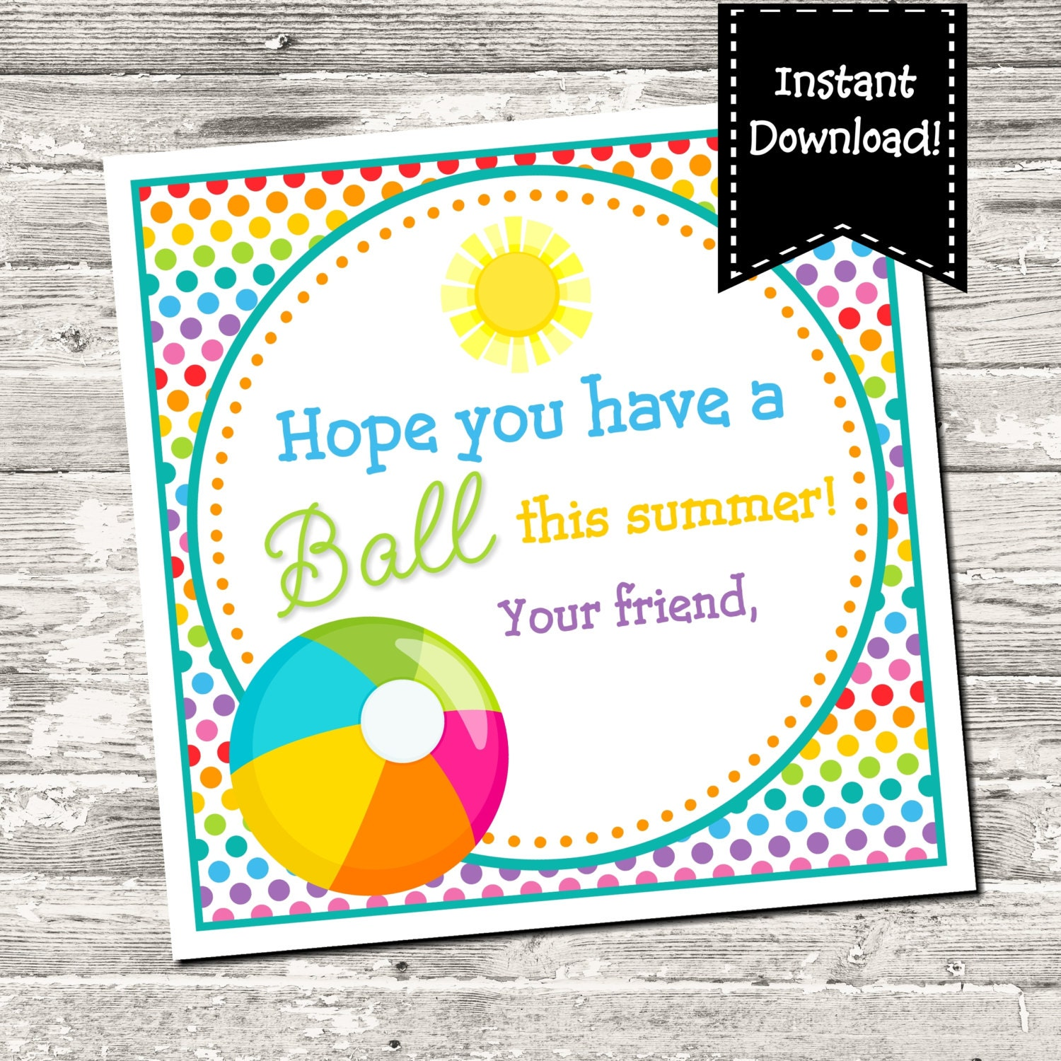 It is a picture of Clever Have a Ball This Summer Printable
