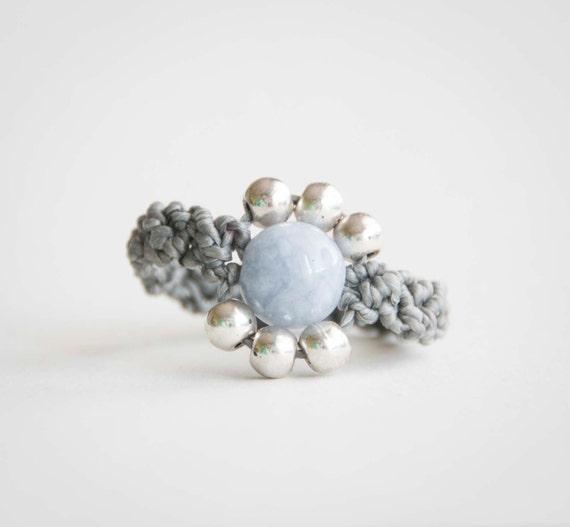 Grey bohemian ring