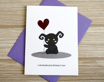 Heartless Without You Love Card