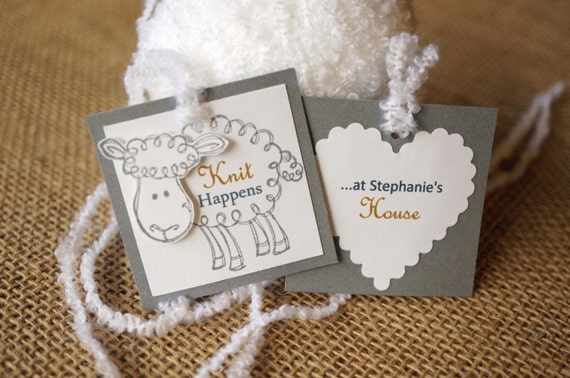 Knitting Labels Hand Knit By : Personalized knitting tags labels by melodysmoments