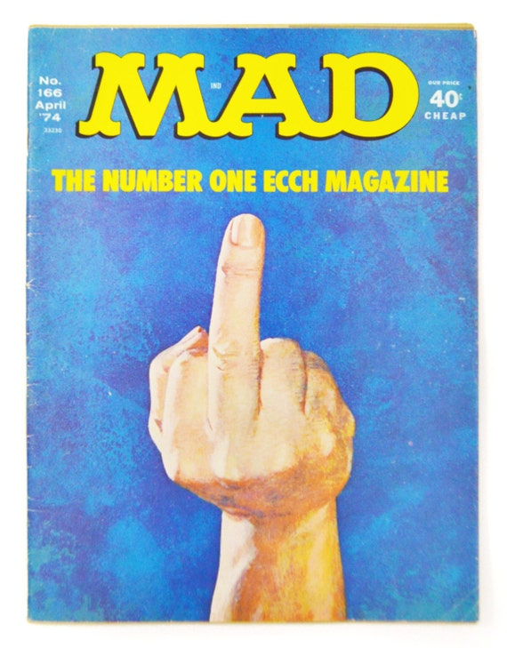 Vintage Mad Magazine The Number Ecch Magazine No. 166 April '74 Parody