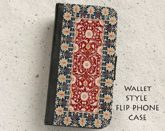 iPhone Case (all models) - William Morris Little Trees - wallet flip case -  Samsung Galaxy S4,S5,S6,S7Edge, Note5,S8,S8Plus & more