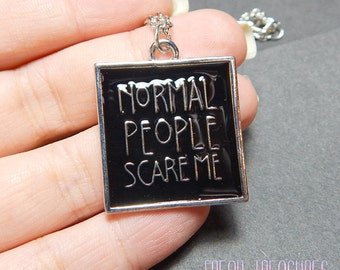 Horror fandom necklace, tv shows, fangirl, normal people scare me.