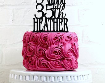Th Birthday Cake Etsy - 35th birthday cake ideas
