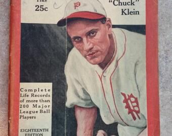 1933 Who's Who In Baseball - Chuck Klein
