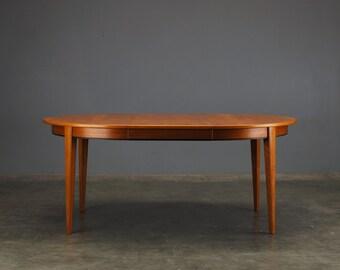 Round/Oval Dining Table by Gunni Omann Danish Modern Teak