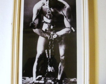Framed Picture Harry Houdini, the Greatest Magician ever produced by America