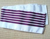 Japanese obi belt white w...