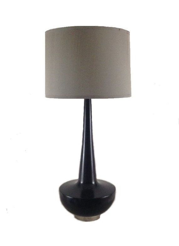 Black Handmade Maple Lamp With Nickel Hardware by A.B. Thomas