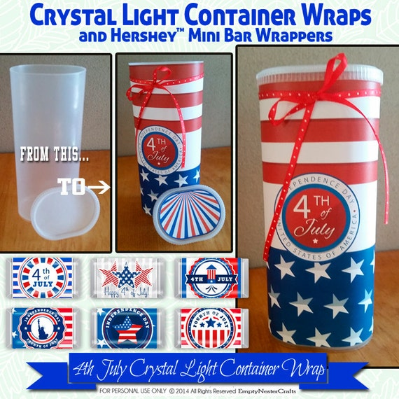 Crystal Light Container Wrapper 4th July Hershey Mini's