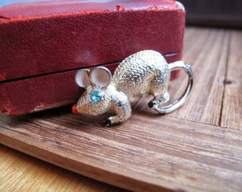 Vintage Hollywood Mouse Brooch / Pin
