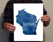 Wisconsin  - home. - 11x14 Typography Print