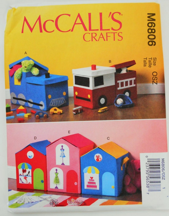 Toy Box Storage Sewing Pattern McCalls 6806, Kids Room Storage, Toy Chest,  Fire Truck Container, Train Storage Container, Doll House From  RosiesPlayHouse On ...